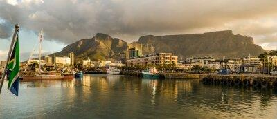 Фотообои Кейптаун, Sudafrica, Waterfront, Tramonto, Столовая гора
