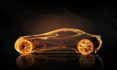 Фотообои Символ автомобиля света