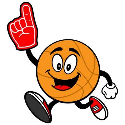 Фотообои Мультфильм Баскетбол Бег с пены палец