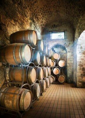 Фотообои Подвал с бочки для хранения вина