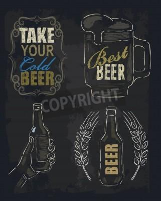 Фотообои мелки пиво
