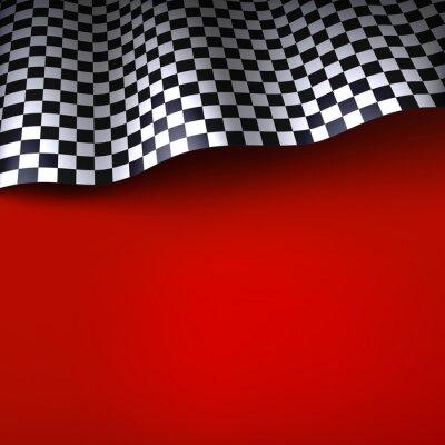 Фотообои Флаг с шашечками