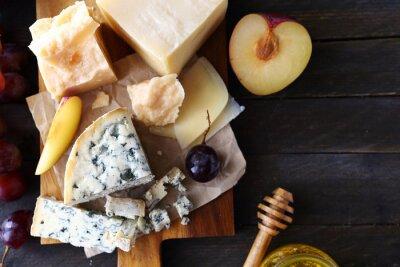Фотообои сыр с фруктами для аперитива