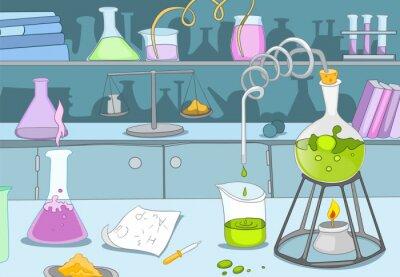 Фотообои Химическая лаборатория