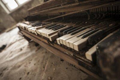 Фотообои Chernobyl - close-up of an old piano