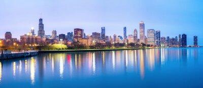 Фотообои В центре Чикаго и озеро Мичиган Панорама