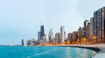 Фотообои Чикаго Панорамный вид на озеро Мичиган