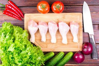 Куриные ножки с вермишелью и овощами