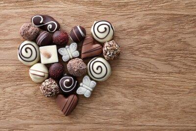 Фотообои Шоколадные конфеты сердца