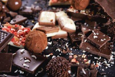 Фотообои шоколадные конфеты