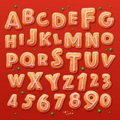 Фотообои Рождество пряники алфавита и цифры