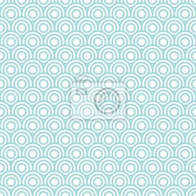 Фотообои Circles Pattern Retro Seamless Turquoise