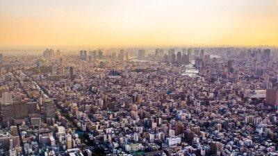 Фотообои Citiscape Токио на закате, Япония