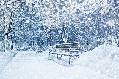 Фотообои Город покрыт снегом