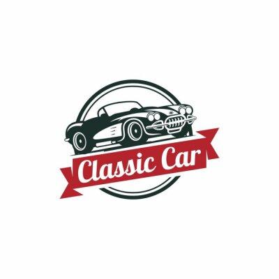 Фотообои Классический автомобиль Вектор Шаблон