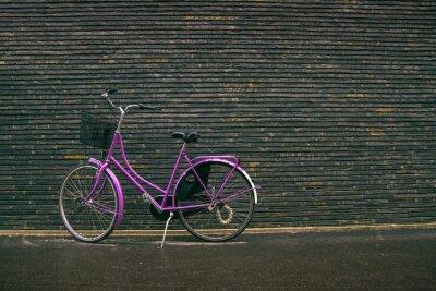 Фотообои Классический Урожай Фиолетовый Hipster велосипедов на улице