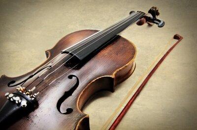 Фотообои Классический скрипка на гранж текстуру бумаги.