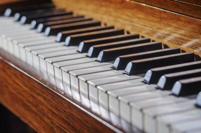 Фотообои Закрыть фортепианной клавиатуры с ограниченной глубиной резкости