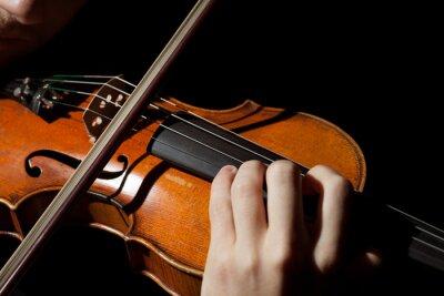 Фотообои Крупным планом фото человека играть на скрипке