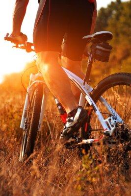 Фотообои Закройте вверх вид сзади человека Spining велосипеда педали