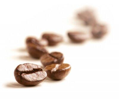 Фотообои Кофе в зернах нарисовать зигзаг линии, изолированных на белом.