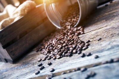 Фотообои Кофе в зернах в ведро