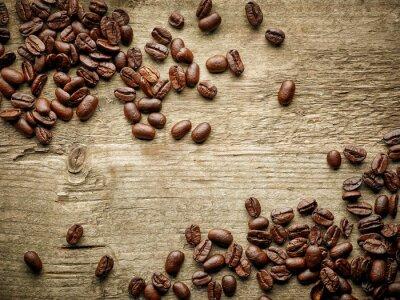 Фотообои Кофе в зернах на деревянном столе