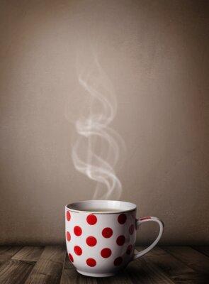 Фотообои Чашка кофе с абстрактной белого пара
