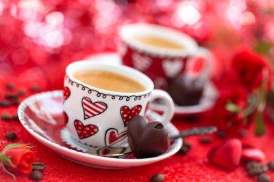 Фотообои Кофе на день Святого Валентина.