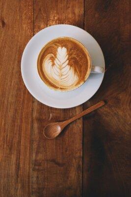 Фотообои кофе латте в кафе старинные цвета