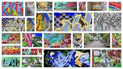 Фотообои коллаж ... граффити