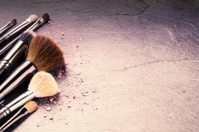 Фотообои Коллекция профессиональных кистей для макияжа