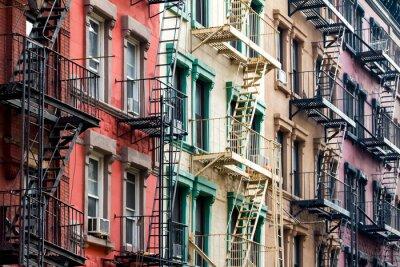 Фотообои Цветные жилые дома в Нью-Йорке