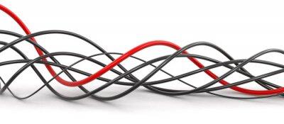 Фотообои Цветные кабели. Изображение с отсечения путь.