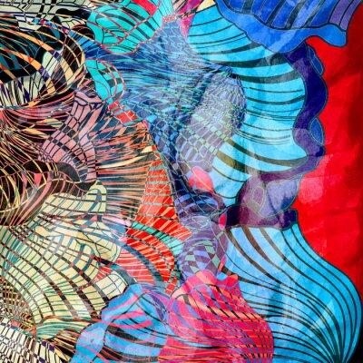 Фотообои красочные абстрактного фона