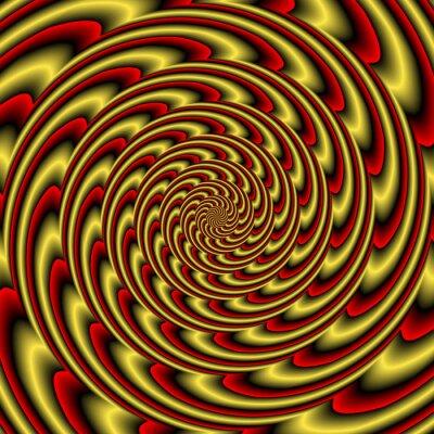 Фотообои Красочный абстрактный красочный гипнотический тоннель