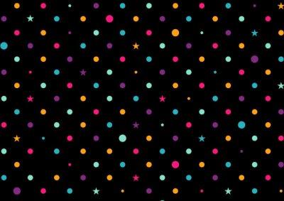 Фотообои Красочные Dots черный фон векторной иллюстрации