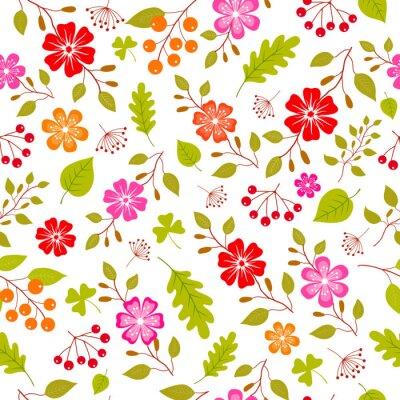 Фотообои Красочные цветы бесшовные модели