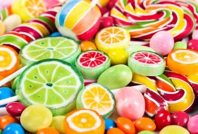 Фотообои Красочные леденцы на палочке и отличается конфеты