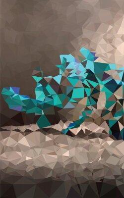 Фотообои Красочный фон многоугольной