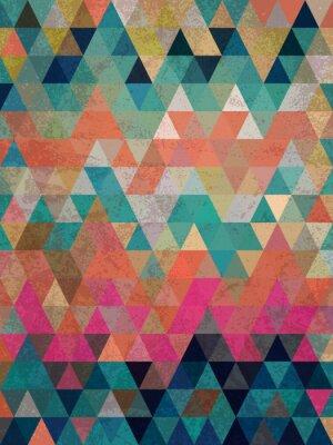 Фотообои Красочные треугольники с антикварной стиль фона