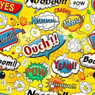 Фотообои Комикс речи пузыри бесшовные модели иллюстрация