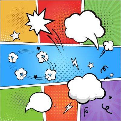 Фотообои Комикс и комикс речи пузыри на красочные полутонов