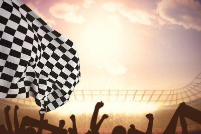 Фотообои Композитный изображение клетчатого флага