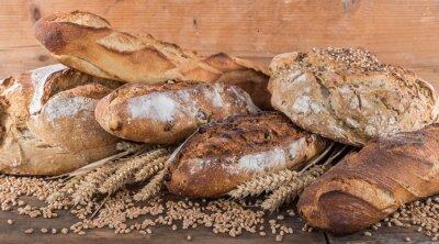 Фотообои Состав различных сортов хлеба