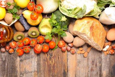 Фотообои Состав с помощью диеты и здорового питания