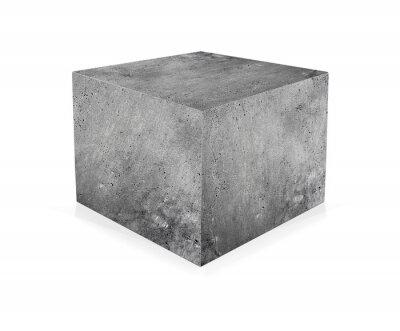 Фотообои Бетонный куб изолированный