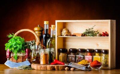 Фотообои Приготовление ингредиентов, специй и трав