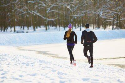 Фотообои Пара работает в зимний период