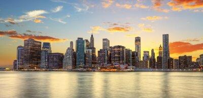 Фотообои Crépuscule Манхэттен, Нью-Йорк.